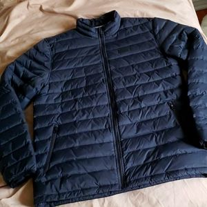 VAN'S duck down mens puffer bomber style winter coat black